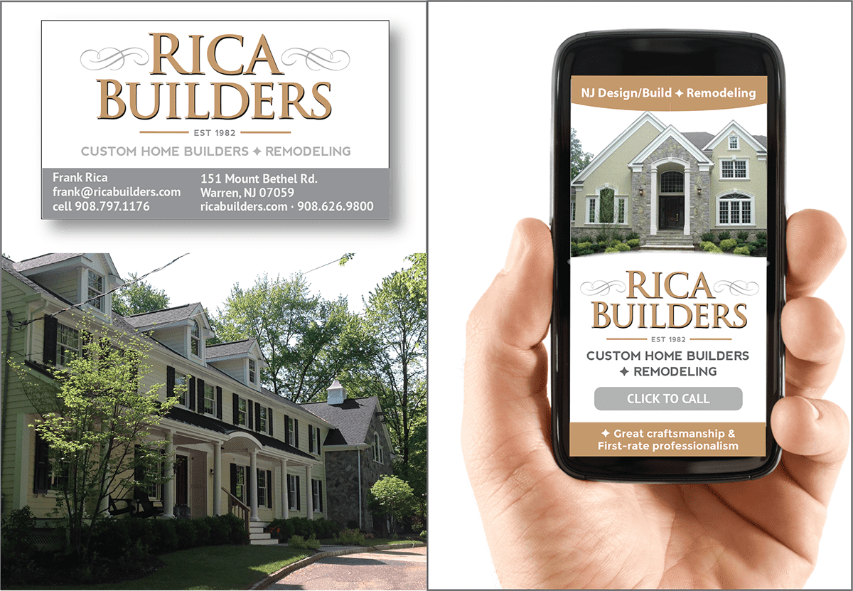 Small Business Marketing and Custom Mobile Web Design for Rica Builders