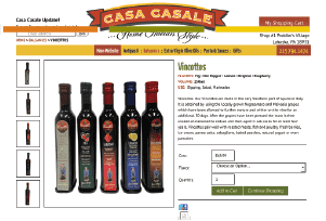 Casa Casale/estore — online website for italian gourmet food and olive oils