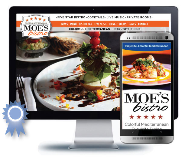 Restaurant Web Design for Moe's Bistro, New Providence, NJ